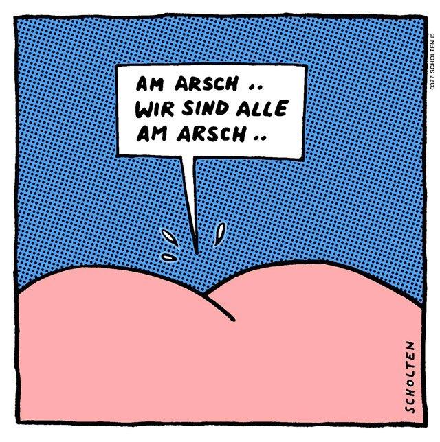Redewendungen mit Arsch - Ausdrücke mit Arsch - Umgangssprache - Deutsch lernen mit Cartoons - Deutsch lernen