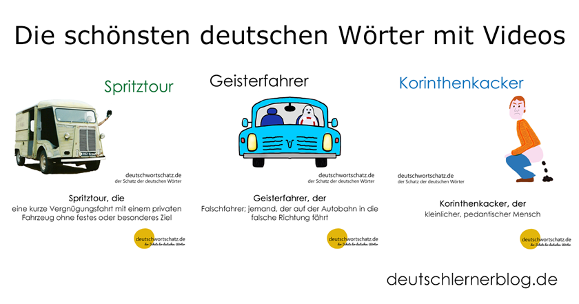 Wortschatz lernen mit Videos - schönste deutsche Wörter mit Videos - Aussteiger - splitterfasernackt - Frühlingsbote - Deutsch Wortschatz - Wortschatz lernen