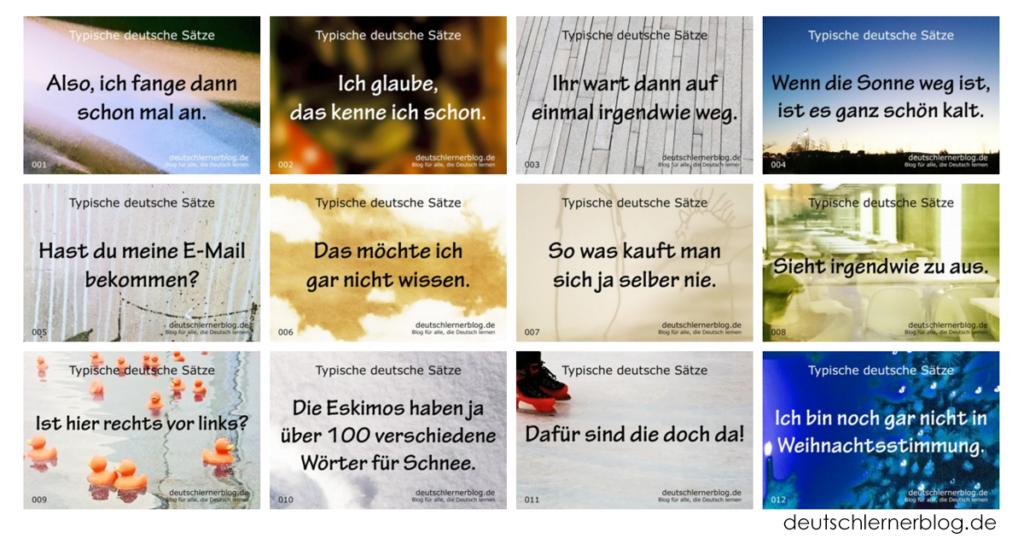 typische deutsche Sätze - wichtige deutsche Sätze - Sätze auf Deutsch