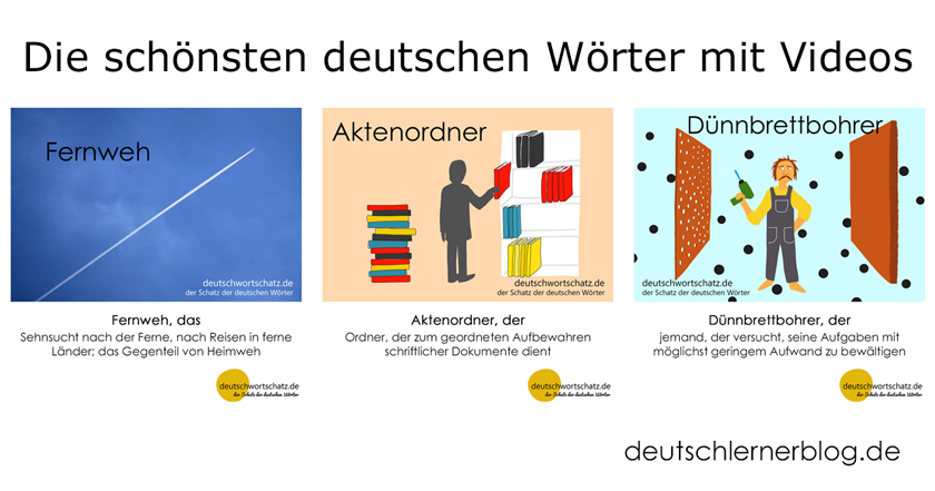 deutsche Wörter lernen - schönste deutsche Wörter mit Videos - Aussteiger - splitterfasernackt - Frühlingsbote - Deutsch Wortschatz - Wortschatz lernen