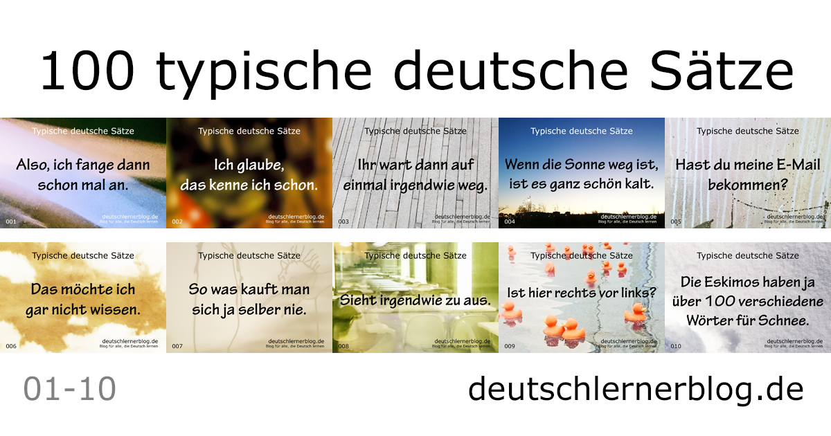 100 typische deutsche Sätze - wichtige deutsche Sätze - typische Sätze Deutsch - wichtige Sätze Deutsch - Deutsch lernen