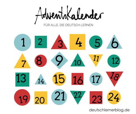 Adventskalender - Adventskalender 2016 - Online-Adventskalender 2016 - Online Adventskalender - Adventskalender Deutsch lernen