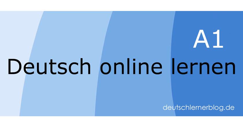 Deutsch A1 online lernen