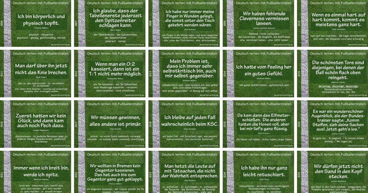 Fußballerzitate - Zitate Fußball - Sprüche Fußball - Fussballerzitate - Lustige Fussball