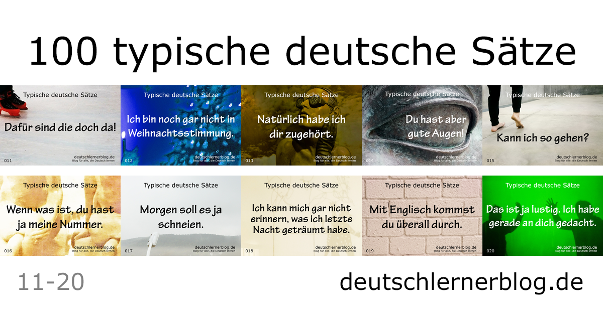 Sätze auf Deutsch - 100 typische deutsche Sätze - wichtige deutsche Sätze - typische Sätze Deutsch - wichtige Sätze Deutsch - Deutsch lernen