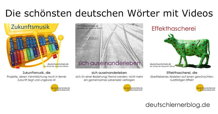 deutsche Wörter - schöne deutsche Wörter - Wortschatz Deutsch