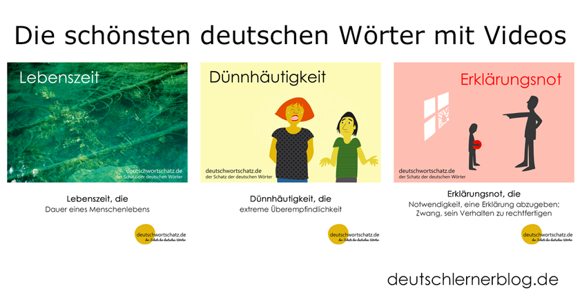 schöne Wörter - Wortschatz - Deutsch - deutsche Wörter