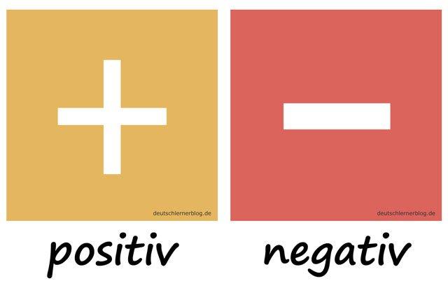 Bilderlexikon Adjektive - Adjektive lernen - Wortschatzbilder - Wortschatz Adjektive - Wortschatz mit Bildern - positiv - negativ