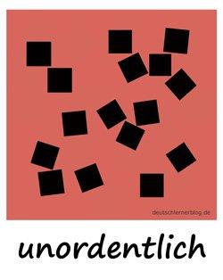 unordentlich_Adjektive_Übung_Deutsch_lernen