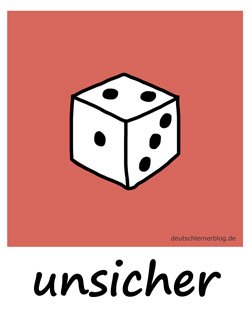 unsicher_Adjektive_Übung_Deutsch_lernen
