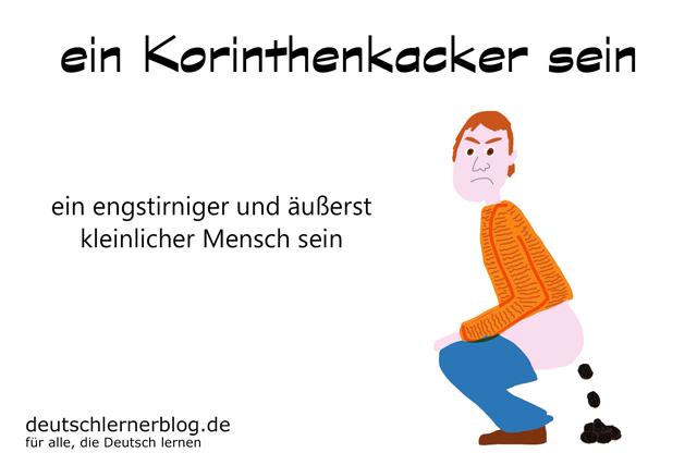 ein Korinthenkacker sein - Redewendungen Bilder - Wortschatz Bilder - Deutsch lernen - Deutschlernerblog