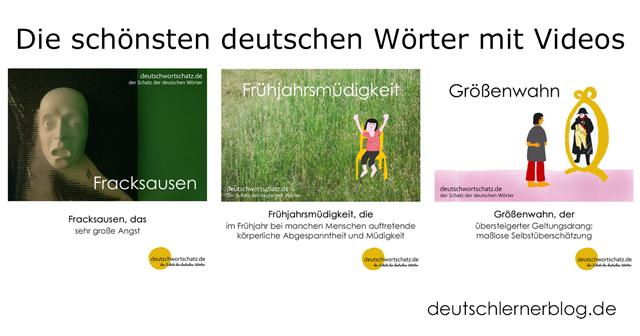 schöne deutsche Wörter - Fracksausen - Frühjahrsmüdigkeit - Größenwahn - schöne deutsche Wörter