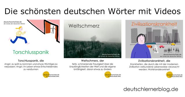 deutsche Wortschatz - Torschlusspanik - Weltschmerz - Zivilisationskrankheit - schöne deutsche Wörter