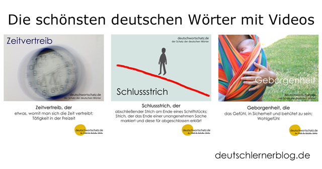 Wortschatz lernen mit Bildern - Zeitvertreib - Schlussstrich - Geborgenheit - schöne deutsche Wörter