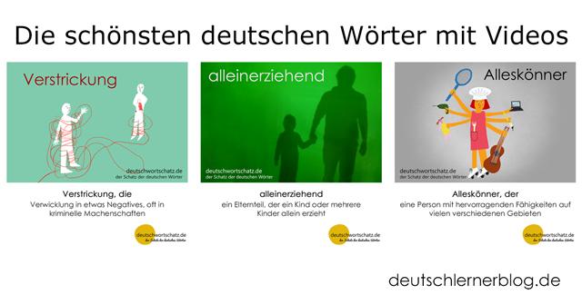 die schönsten deutschen Wörter mit Bildern - Verstrickung - alleinerziehend - Alleskönner - schöne deutsche Wörter