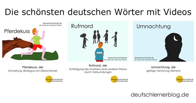 Pferdekuss - Rufmord - Umnachtung - schöne deutsche Wörter