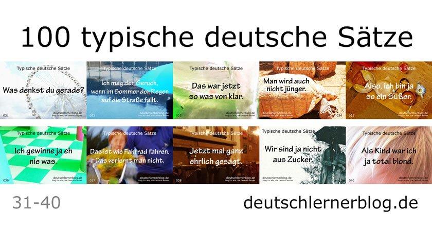 typische Sätze auf Deutsch