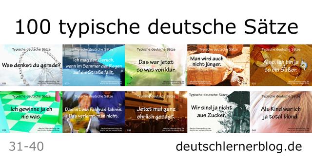 typische Sätze auf Deutsch - typische deutsche Sätze