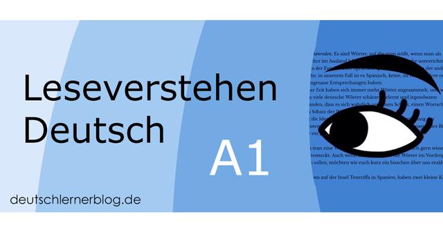 Leseverstehen Deutsch A1 - Leseverstehen A1 - Leseverständnis A1 - Deutsch lesen A1