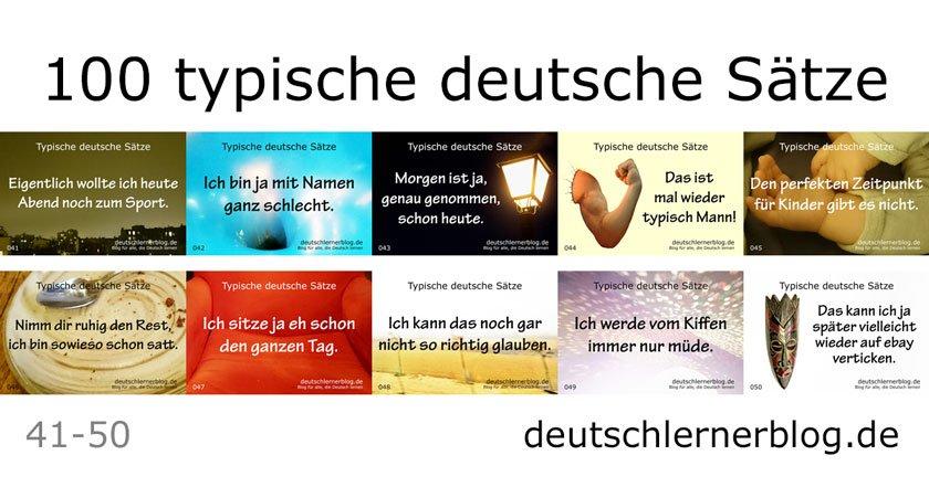 100 typische deutsche Sätze - 100 typische Sätze auf Deutsch