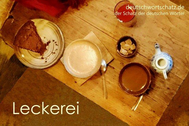 Wörter lernen Deutsch - Leckerei