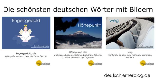 Wörter auf Deutsch - Engelsgeduld - Höhepunkt - weg