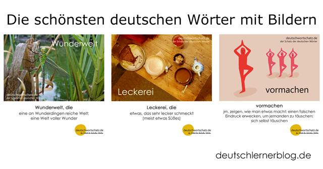 Wörter lernen Deutsch - Wunderwelt - Leckerei - vormachen