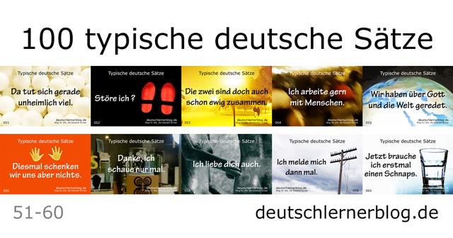 100 deutsche Sätze - typische deutsche Sätze