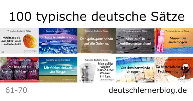 100 typische Sätze auf Deutsch - deutsche Sätze lernen