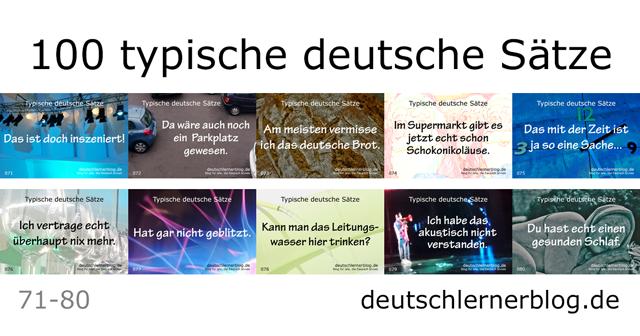 deutsche Sätze lernen - typische Sätze auf Deutsch