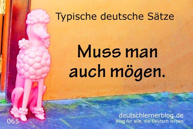 Muss man auch mögen - Sätze auf Deutsch lernen