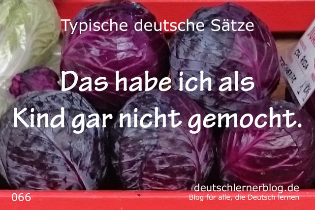 Das habe ich als Kind gar nicht gemocht. - deutsche Sätze lernen