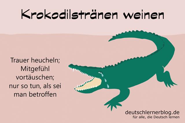 Krokodilstränen weinen - Krokodilstränen vergießen