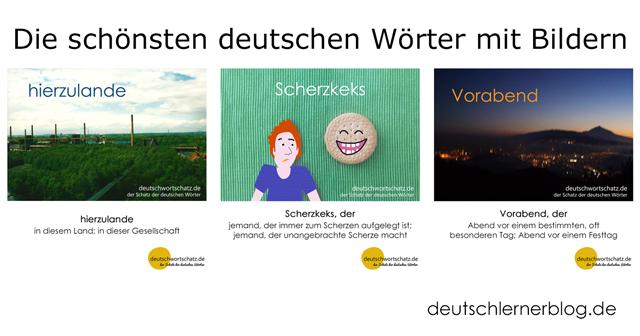 Vorabend, hierzulande, Scherzkeks - deutsche Wörter mit Bildern lernen
