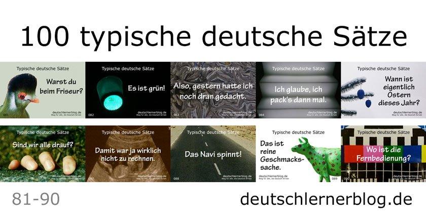 typische Sätze - typische deutsche Sätze