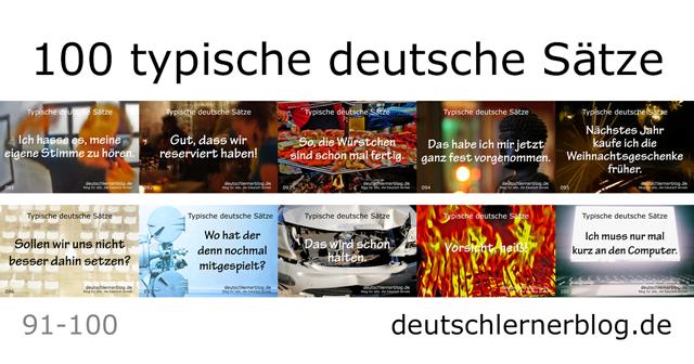 100 typische Sätze auf Deutsch - deutsche Sätze