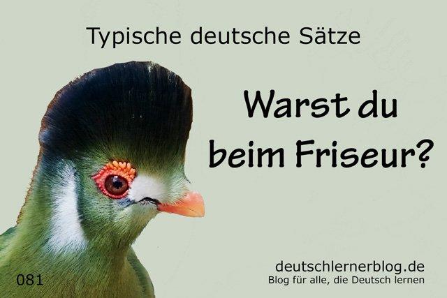 Warst du beim Friseur - 100 Sätze auf Deutsch
