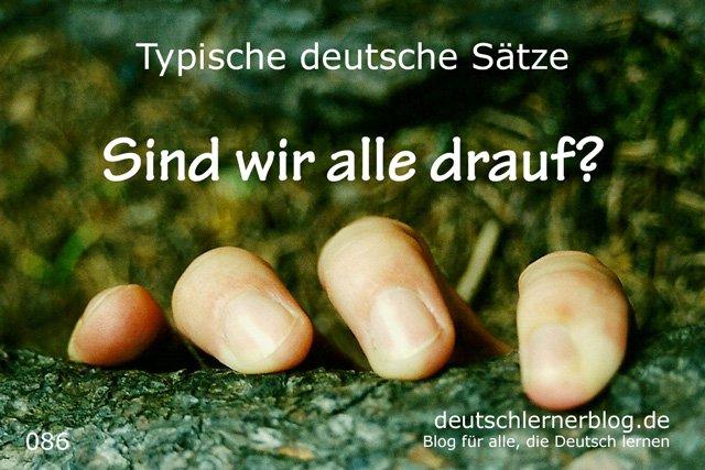 Sind wir alle drauf - 100 Sätze auf Deutsch