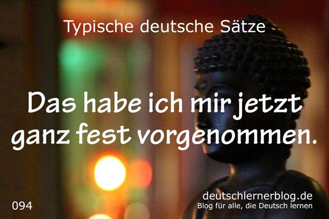 Das habe ich mir jetzt fest vorgenommen - gute Vorsätze - 100 typische Sätze auf Deutsch