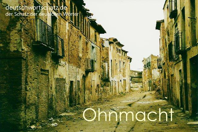 Ohnmacht - besondere deutsche Wörter mit Bildern