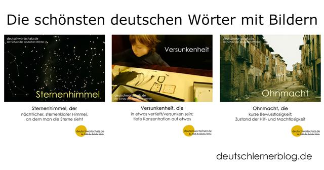 besondere deutsche Wörter mit Bildern