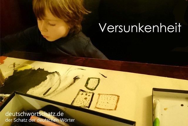 Versunkenheit - besondere deutsche Wörter mit Bildern