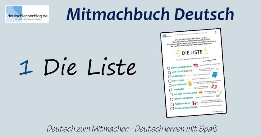 Mitmachbuch - Mitmachbuch Deutsch - Deutsch zum Mitmachen - Deutsch lernen mit Spaß - Deutsch lernen mit Spass