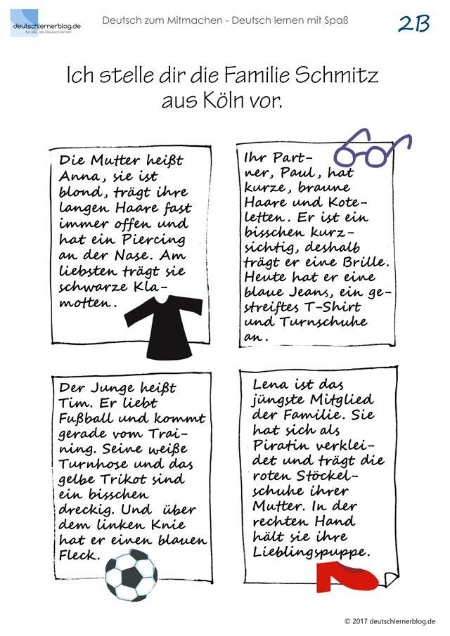 Familienportrat Personenbeschreibung Mitmachbuch Deutsch 02