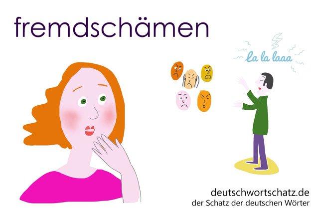 fremdschämen - sich fremdschämen - Bild - Illustration
