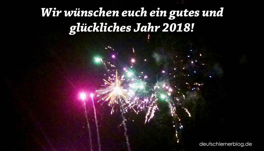 Neujahrswünsche und gute Vorsätze für das neue Jahr