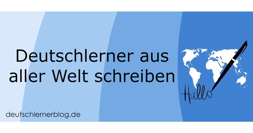 So schreibt und spricht man auf Deutsch - Deutschlerner schreiben