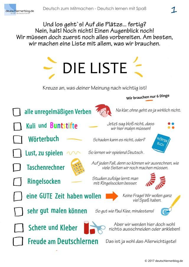 Mitmachbuch Deutsch - Deutsch zum Mitmachen