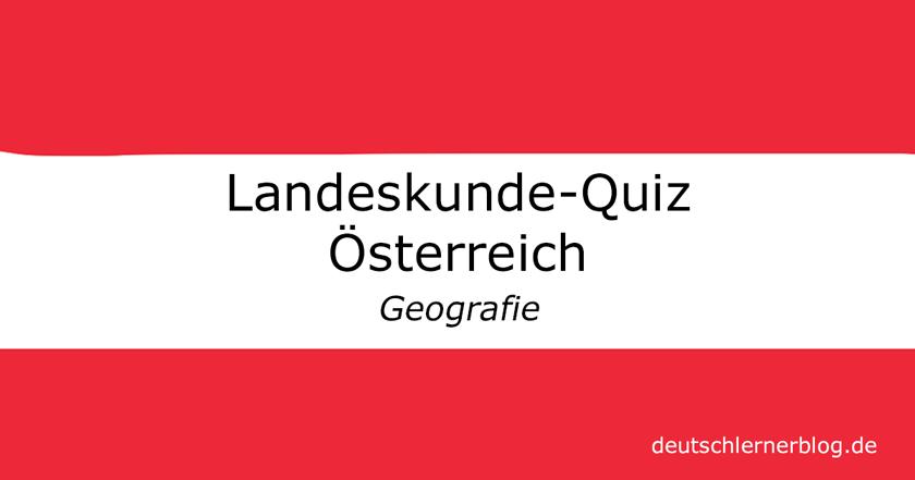 Landeskunde Österreich Quiz
