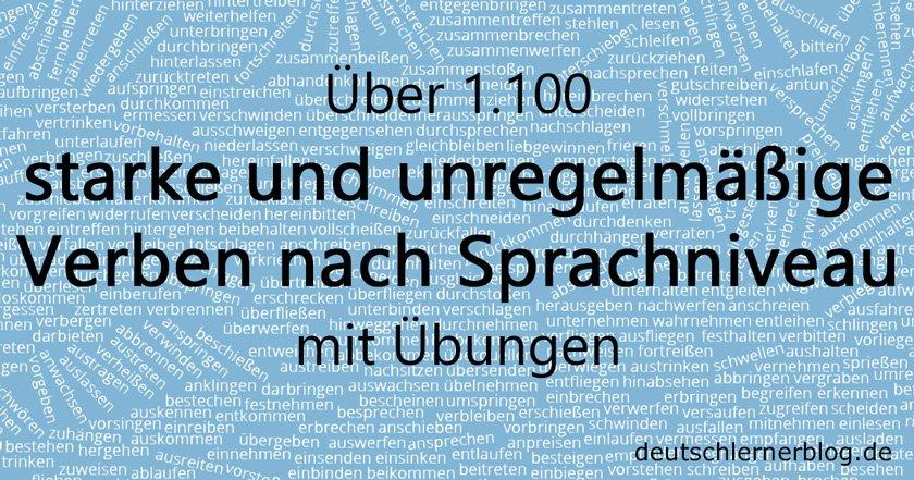 deutsche Verben - unregelmäßige Verben - Konjugation Verben - starke Verben